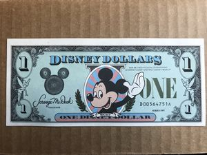 Photo Disney Dollar Mickey, 1987 D Series (3 available)