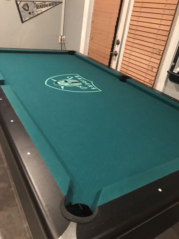 Raiders Pool Table For Sale In Lake Elsinore CA OfferUp - Raiders pool table