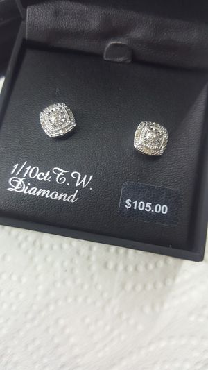 Sterling Silver 1/10 Carat T.W. Diamond Tiered Stud Earrings for Sale in Martinsburg, WV