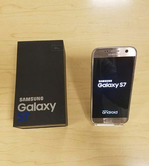 Samsung Galaxy S7  Factory Unlocked + box and accessories + 30 day warranty for Sale in Falls Church, VA