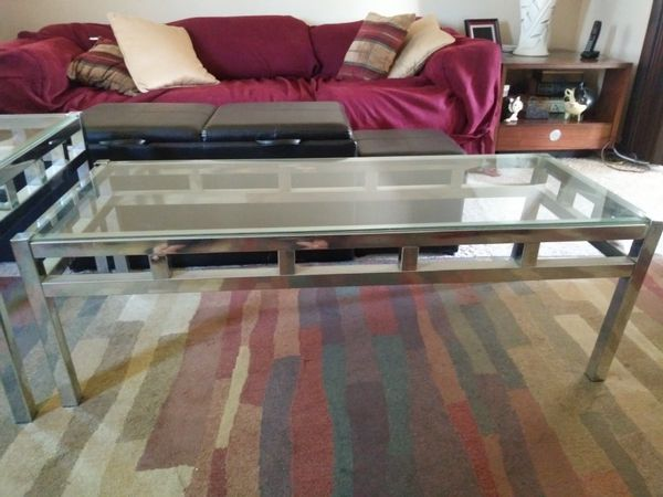 GLASS AND CHROME END TABLE AND COFFEE TABLE SET For Sale In - Cheap coffee and end table sets for sale