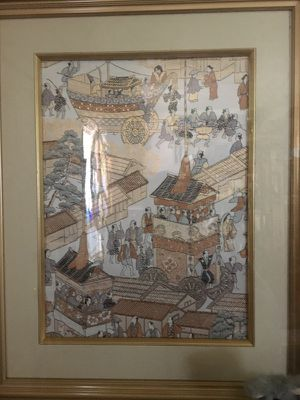 lovely framed oriental picture large for Sale in Gaithersburg, MD