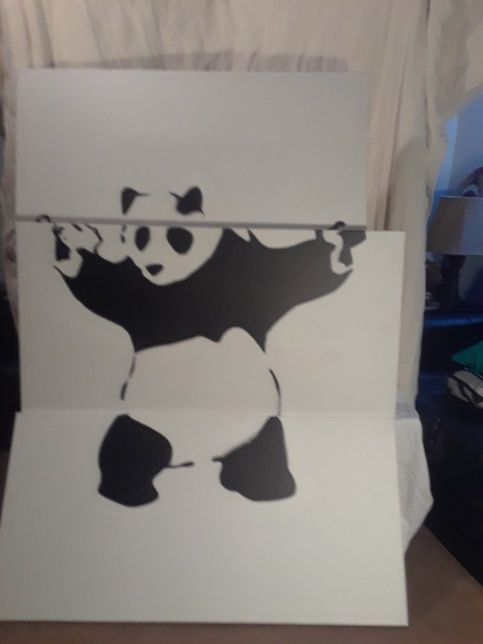Thug Panda 3 Piece Screen Print For Sale In Denver Co Offerup
