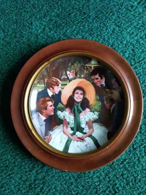 Photo ⭐GONE WITH THE WIND PLATE/ SCARLETT AND HER SUITORS ⭐