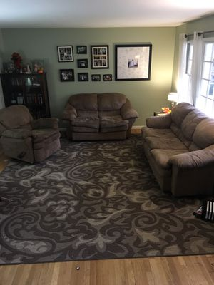 Moving sale! Matching 10'x13' Rug, sleeper sofa, loveseat, recliner for Sale in Rockville, MD