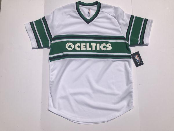 59168904a814 Boston Celtics NBA Vintage Style Baseball Jersey White V Neck (1 Large   1  XL Left!)