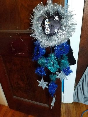 Frozen Vinyl Record Wreath for Sale in Cleveland, OH