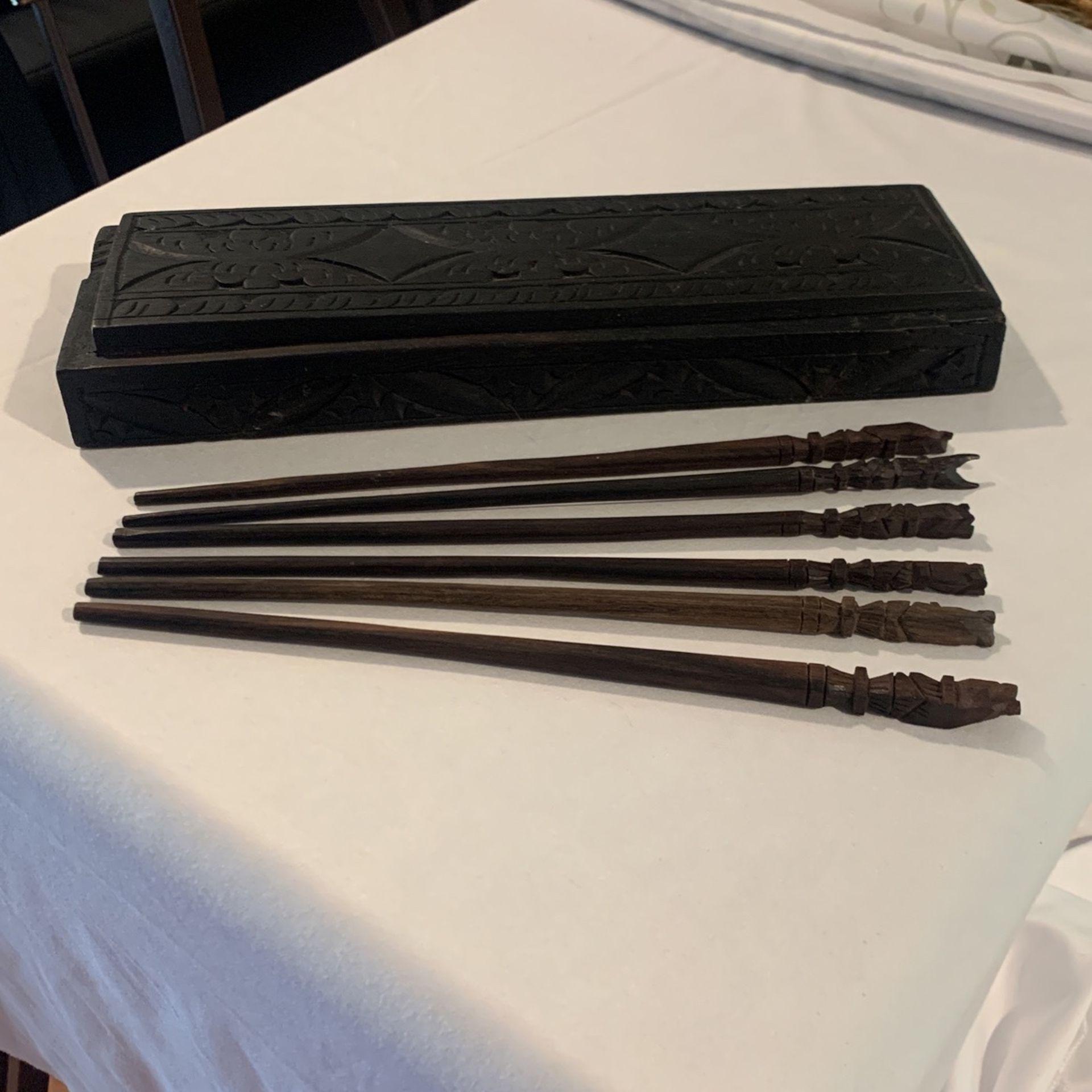 Chopstick Wood Art