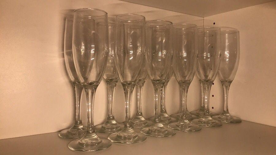 12 Champagne glasses