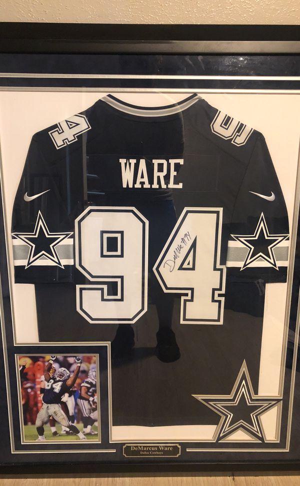 f3f4caad1 Dallas Cowboys Demarcus Ware autographed Framed Jersey. Cowboys Memorabilia