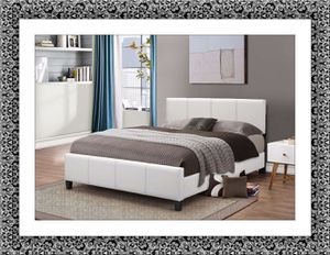 White platform bed with mattress box and delivery all size for Sale in Ashburn, VA