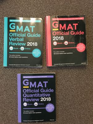 GMAT official guide 2018 for Sale in Washington, DC