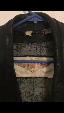 Vintage men's leather jacket size large Thumbnail