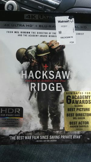 Hacksaw ridge 4K for Sale in Dallas, TX