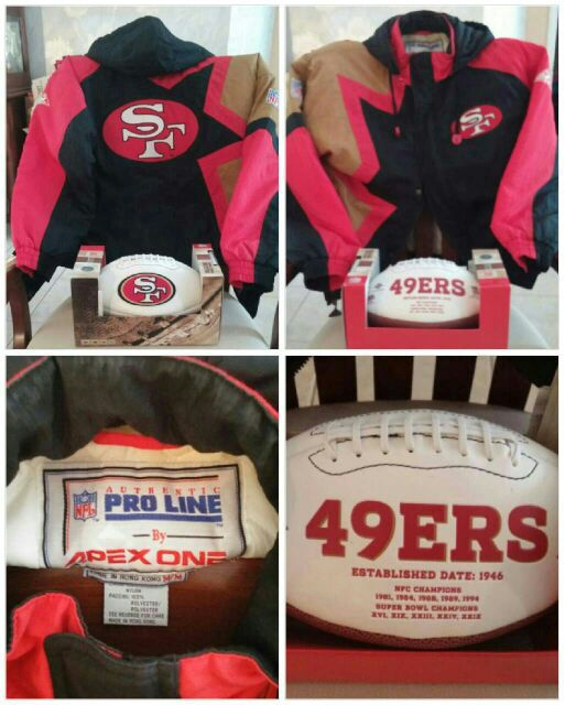 best website fb1f2 f3246 San Francisco 49ERS Coat/ Football and much more! for Sale in Cape Coral,  FL - OfferUp