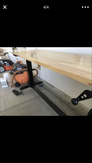 Husky 62 in  W x 24 in  D Adjustable Height Workbench Table in Black for  Sale in Chula Vista, CA - OfferUp