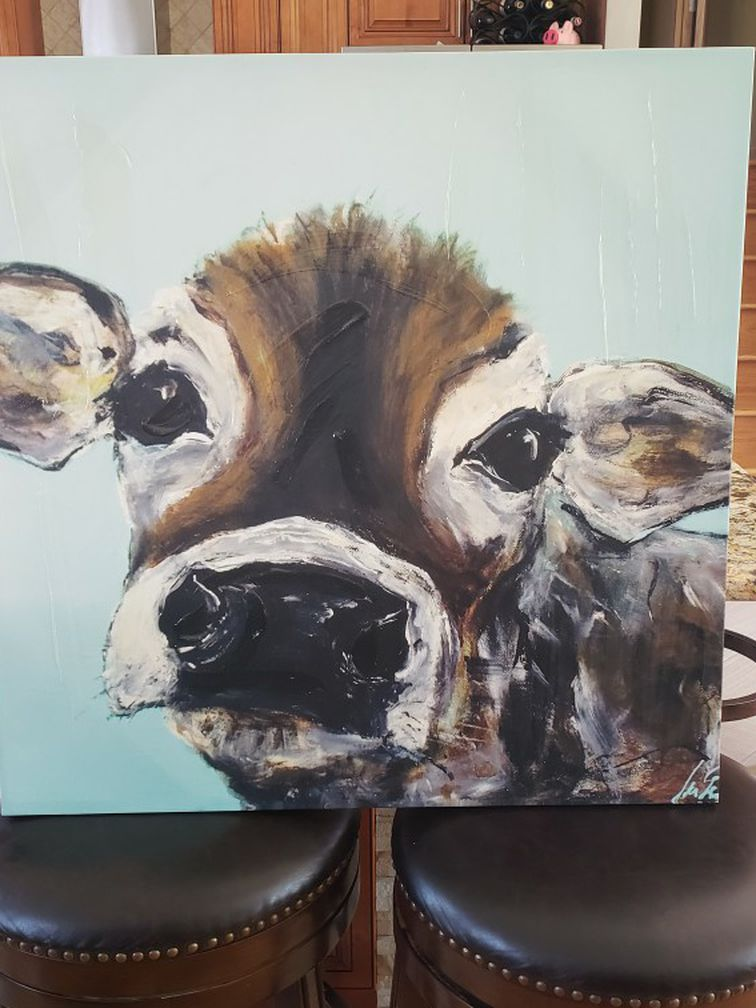 Canvas Cow Oil Painting