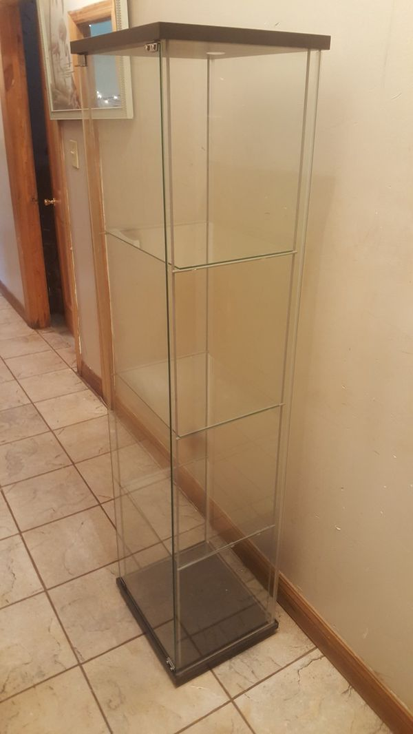 Ikea Detolf Glass Door Display Cabinet Furniture In Chicago Il