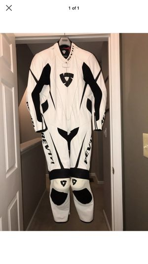 """Rev'it """"Bullit"""" One Piece Motorcycle Race Suit - White size 50 for Sale in New York, NY"""