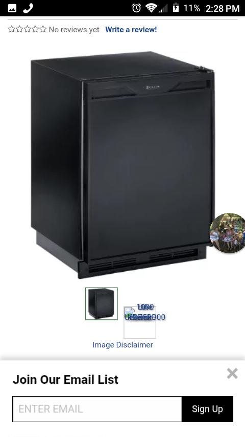 Uline digital deep fridge or mini fridge