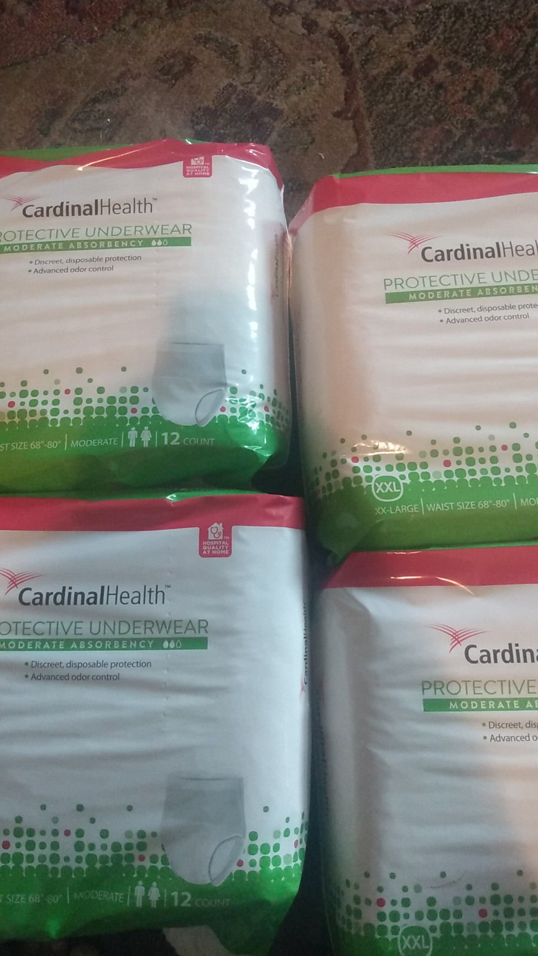 Adult XXL disposable diapers.