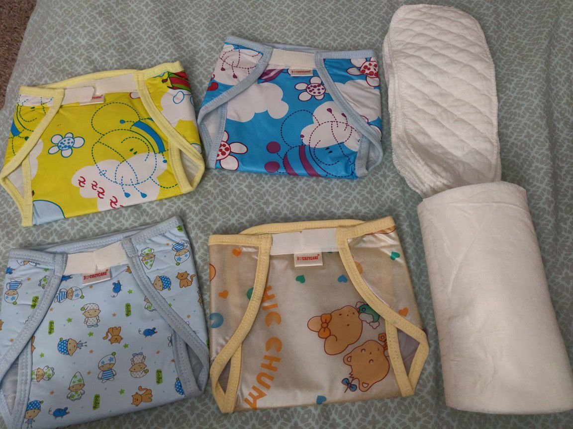 Reusable Diapers/ Nappy + Reusable Liners + Disposable Liner Roll
