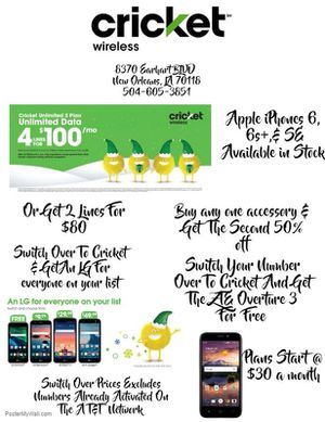 LG X Charge- Cricket Wireless for Sale in New Orleans, LA