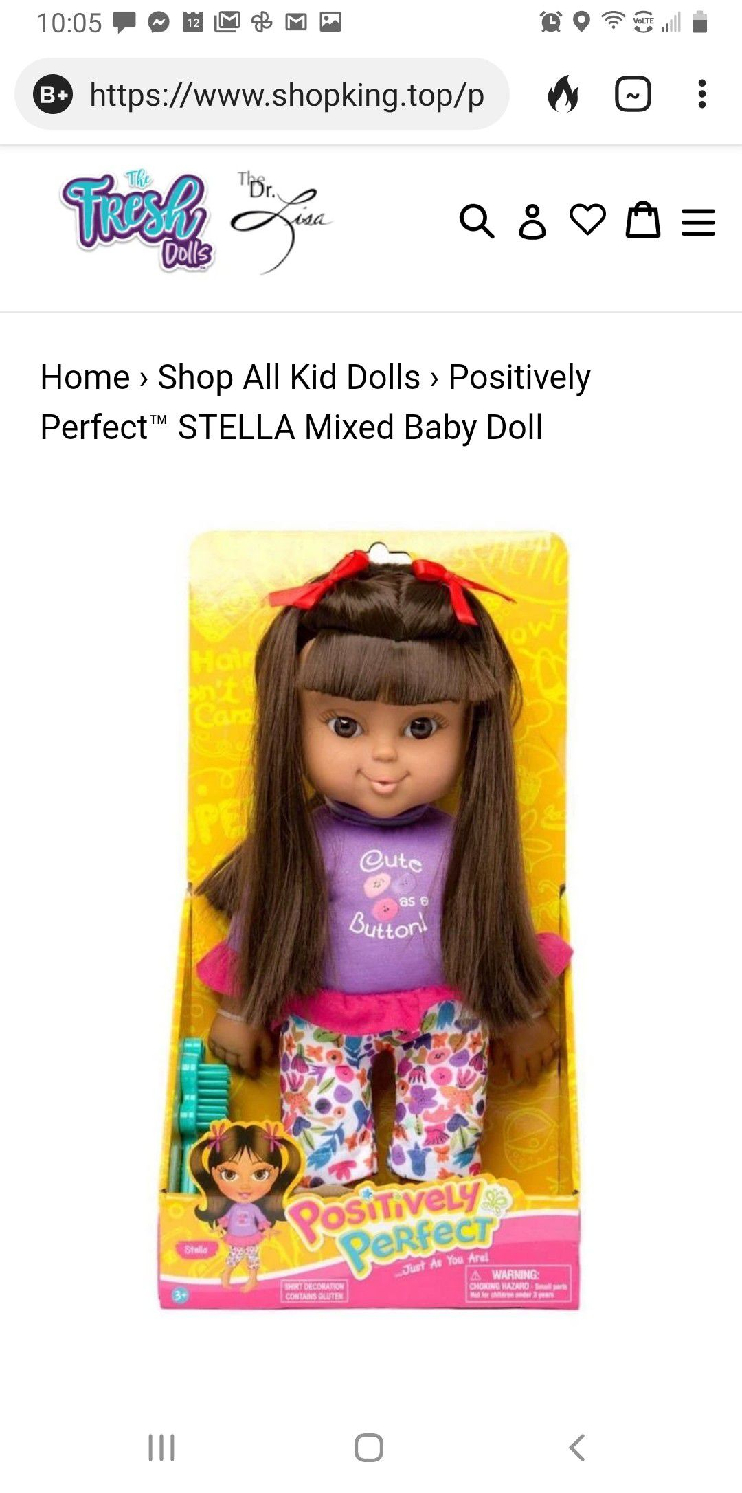 Positively perfect ethnic doll