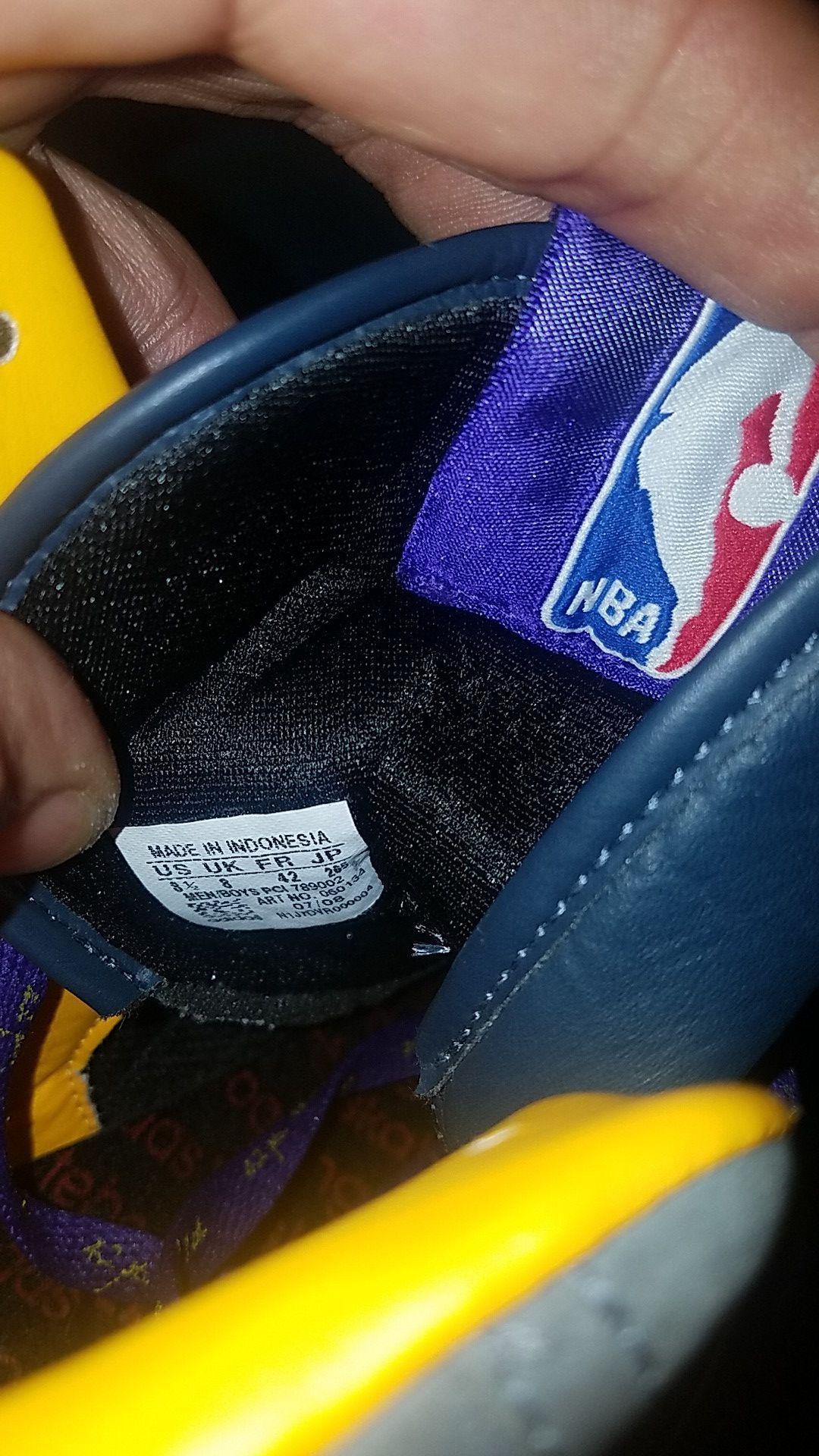 Adidas Retro NBA Official Lakers Anthrocite Smoke (New)