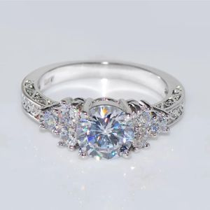 5.8ct 10k gold Filled lab created diamond wedding engagement ring for Sale in Silver Spring, MD