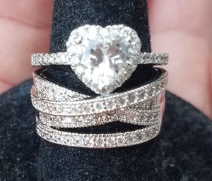 Sterling silver heart wedding set for Sale in Baltimore, MD