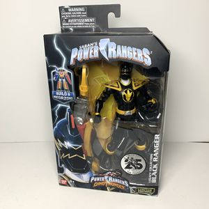 Photo NEW Saban's Power Rangers Dino Thunder Legacy Collection Black Ranger Action Figure Toy - Limited sedition - Bandai Brand - Build a Megazord