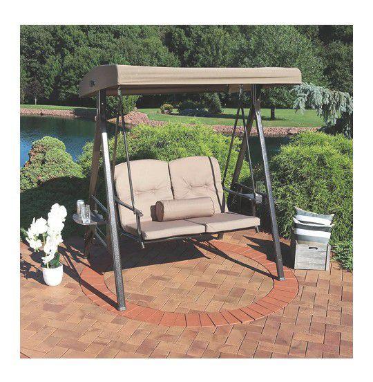 Tilt canopy patio loveseat porch swing