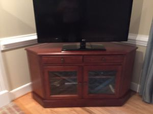 Corner tv cabinet for Sale in Cary, NC