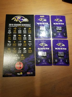 4 X RAVENS PSL'S.....and first choice for Playoffs...See description if interested.... for Sale in Baltimore, MD