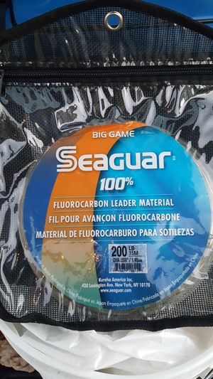 Seaguar flourocarbon 200lb 15m fishing leader for Sale in Los Angeles, CA