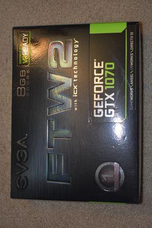 1x EVGA GTX 1070 FTW2 8GB DDR5 for Sale in Galloway, NJ