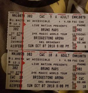 Bruno Mars tickets for Sale in Nashville, TN
