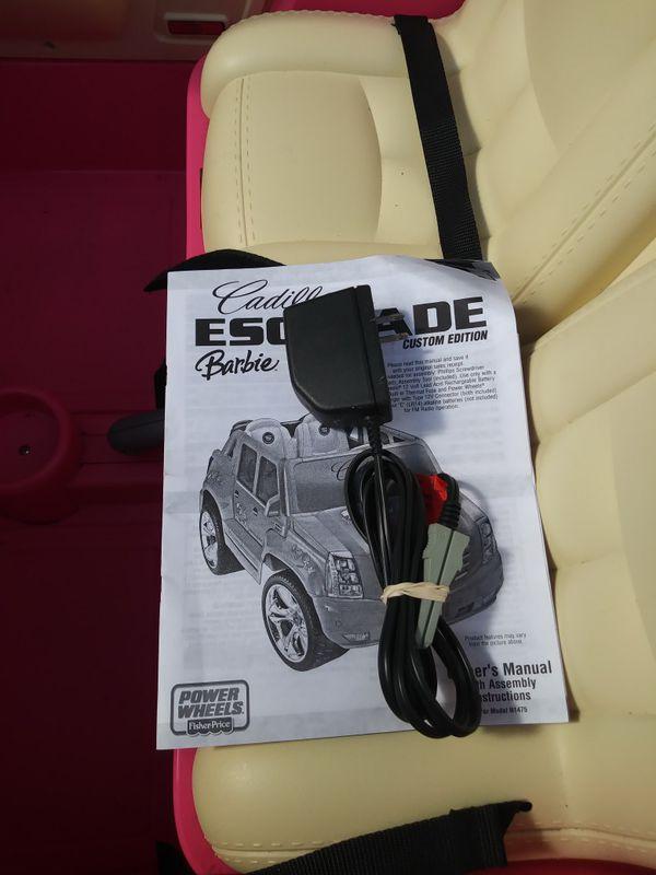 power wheels escalade manual