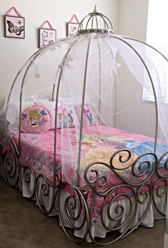 Disney Princess Carriage Bed Full Size Mattress Box Springs Included