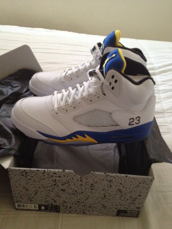 aaf54d767313e0 Jordan 5 warriors color way size 8.0 brand new never use . for Sale ...