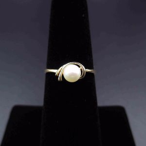 Vintage Estate Size 5.5 10k Solid Yellow Gold Pearl Band Ring Antique Wedding for Sale in Lynnwood, WA