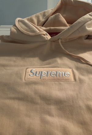 peach supreme box logo hoodie for Sale in Los Angeles, CA