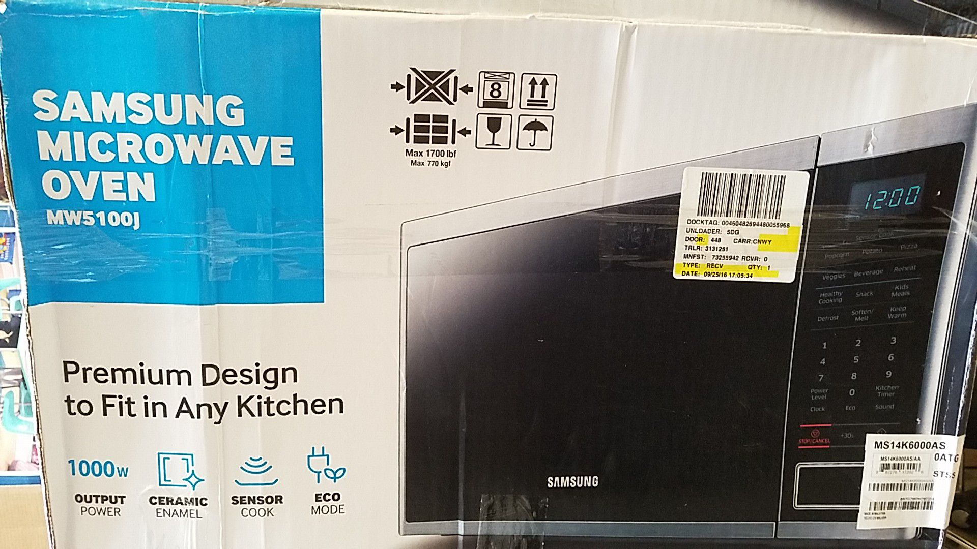 Samsung microwave 1000w