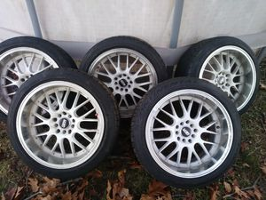 "5 lug str wheels and tires 17"" for Sale in Alexandria, VA"