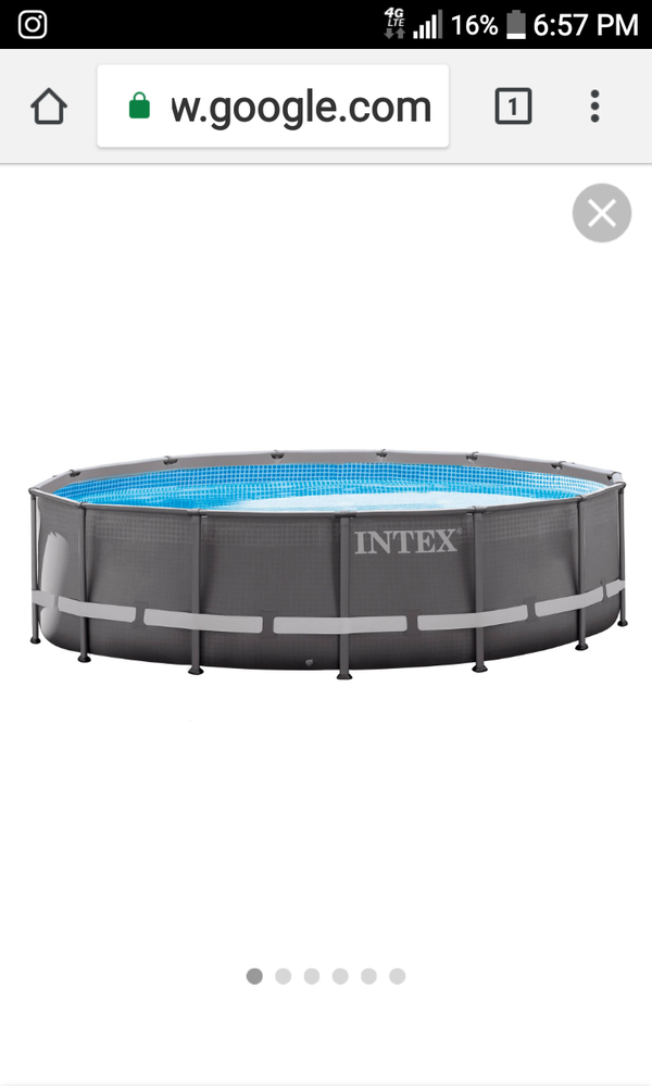 Intex 18\' x 48 inch Ultra Frame Above Ground Swimming Pool with ...