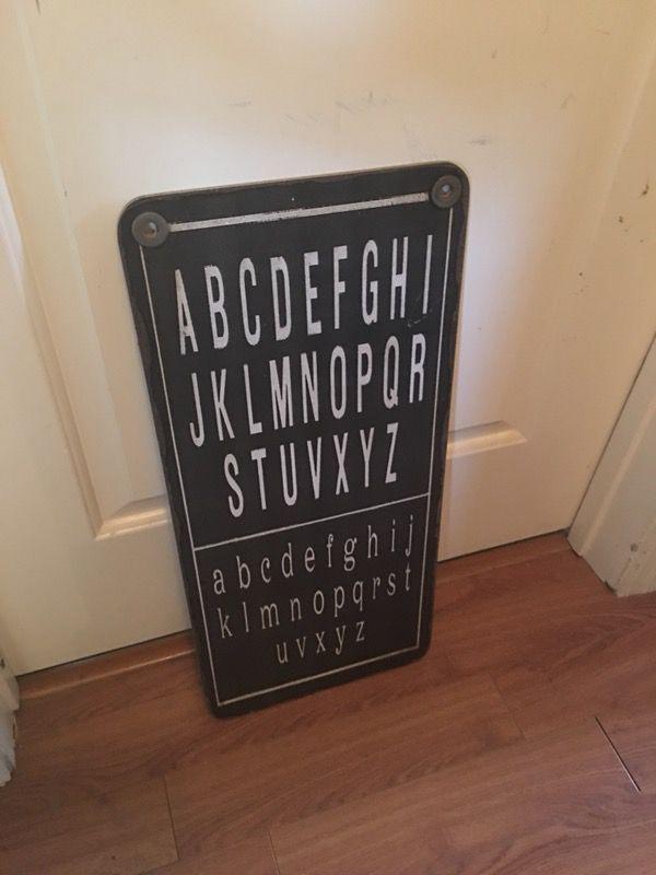 Alphabet Eye Chart Home Decor For Sale In Phoenix Az Offerup
