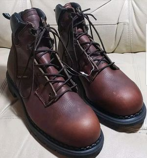 """Red Wing Shoes ASTM 2226 F2413-05 E2 Brown Steel Toe 6"""" Boots - Mens 7.5 Lace for Sale in Fort Mill, SC"""