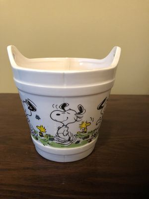 Vintage Snoopy Bucket Planter for Sale in Sully Station, VA