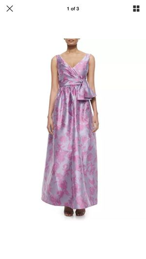 Badgley Mischka gown, brocart, pink and purple, size 10. for Sale in Chicago, IL